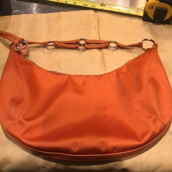 longchamp Handbags - Longchamp ladies orange nylon and leather bag 02e7debb0b2e9